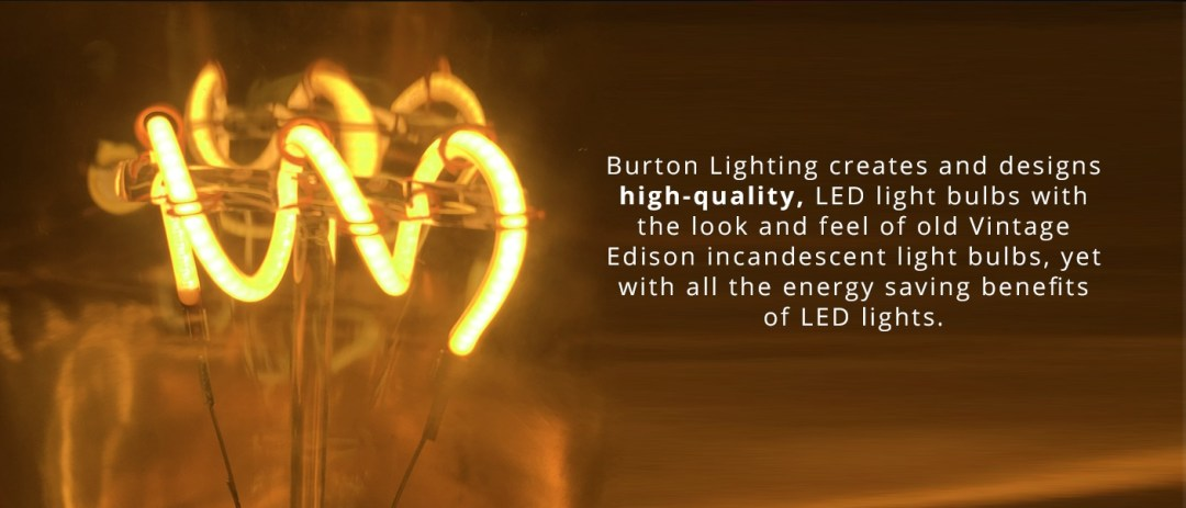 vintage style Edison incandescent bulbs