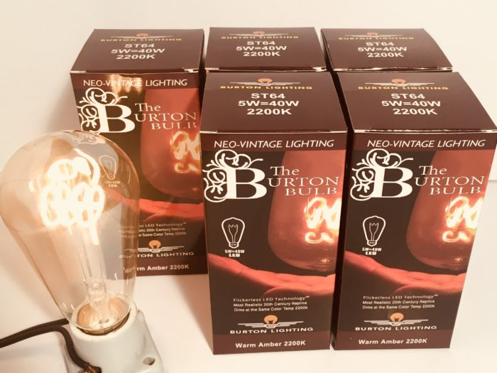 Burton Lighting LED Edison style light bulbs six pack