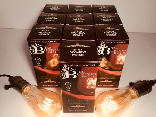 Burton Lighting LED Edison Bulb 40W equivalent 12 pack