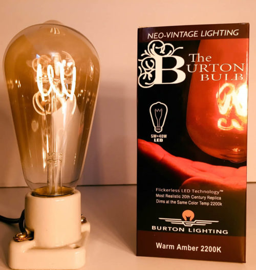 Burton Lighting 40W equivalent LED Edison style light bulb