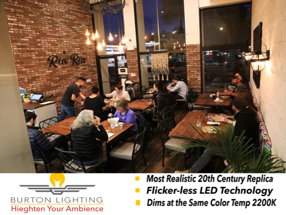 LED Bulbs designed for restaurant and bar lighting